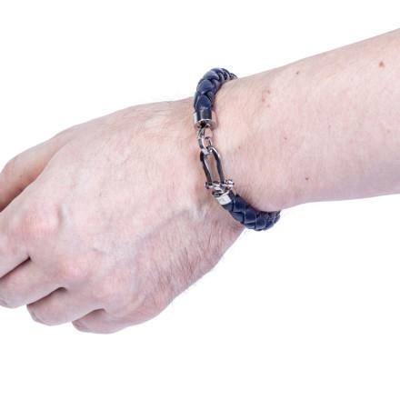 Кожаный браслет Vancouver Blue