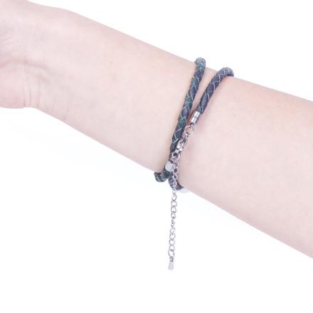 Кожаный браслет Milan Grey