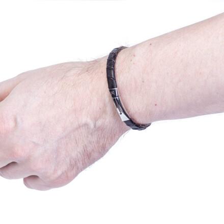 Шкіряний браслет Slim Black