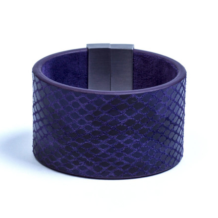 Кожаный браслет Chic Violet