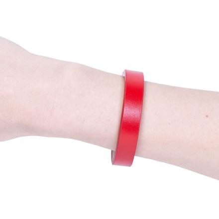 Кожаный браслет Elegance Red