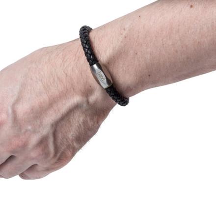 Кожаный браслет Bronx Black