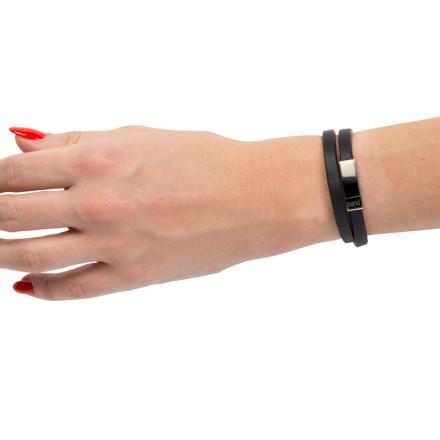 Кожаный браслет Savour Black