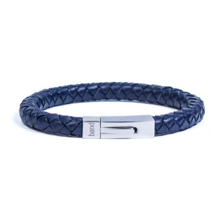 Кожаный браслет Hudson Blue