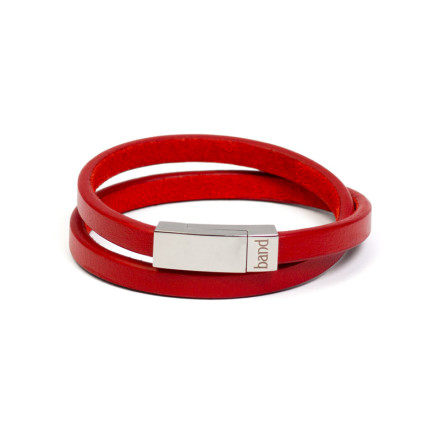Кожаный браслет Savour Red