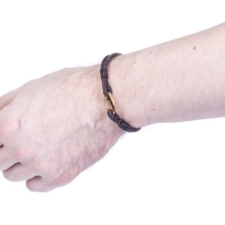 Кожаный браслет Wicker Brown