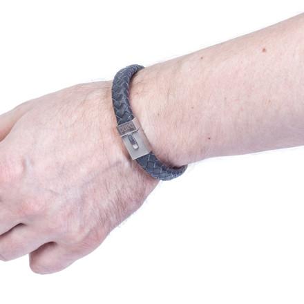 Кожаный браслет Denver Grey