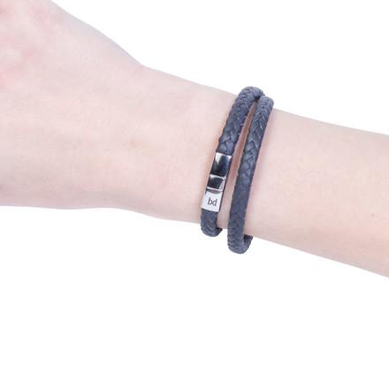 Кожаный браслет Riga Grey