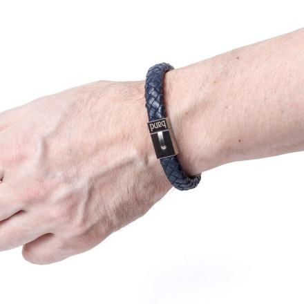Кожаный браслет Denver Blue