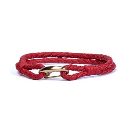 Кожаный браслет Wicker Red