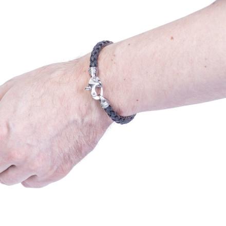Кожаный браслет Kingston Grey