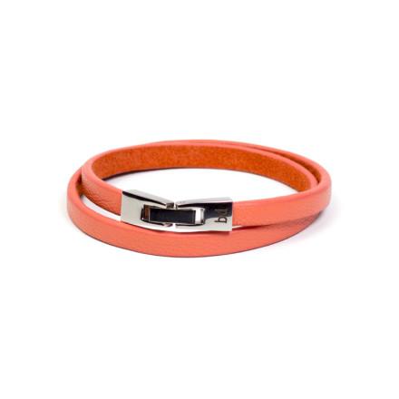 Кожаный браслет Tender Orange