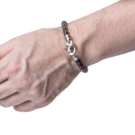 Кожаный браслет Kingston Brown