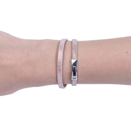 Кожаный браслет Tender Pink