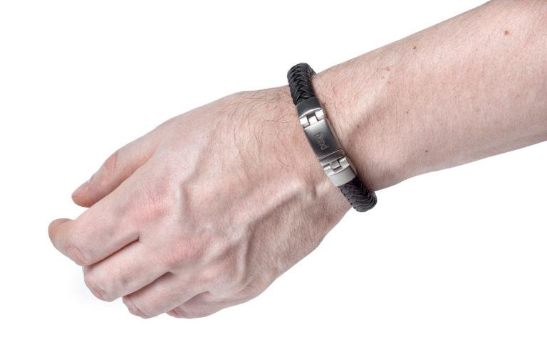 Кожаный браслет Madison Black