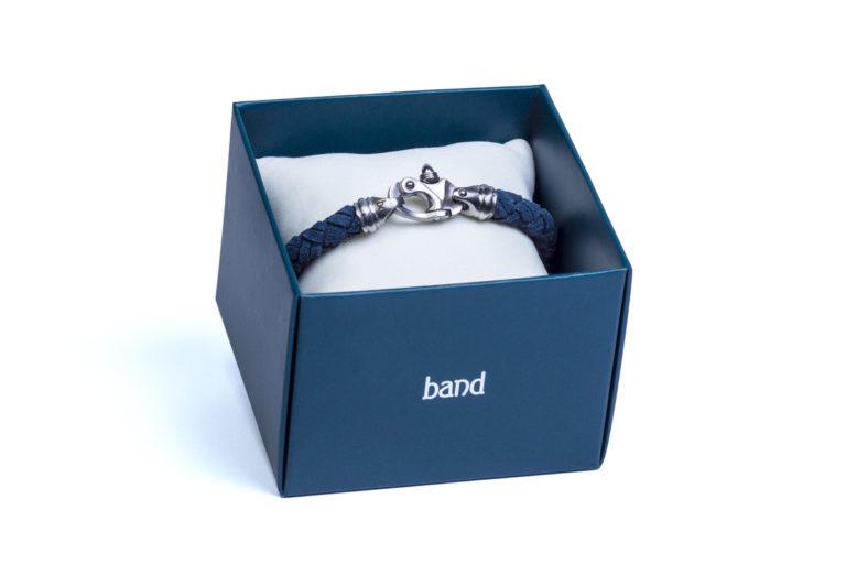 Кожаный браслет Kingston Blue