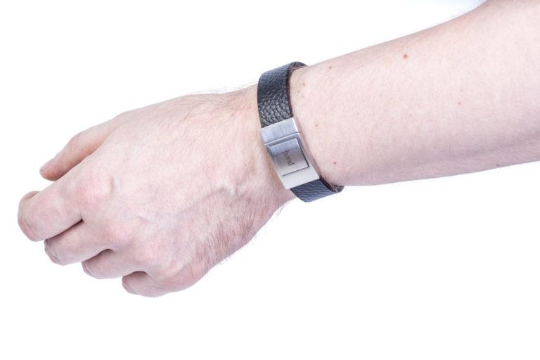 Кожаный браслет New York Black