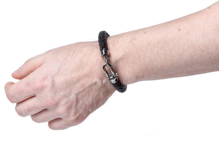 Кожаный браслет Vancouver Black