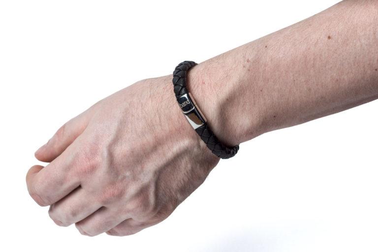 Кожаный браслет Berlin Black