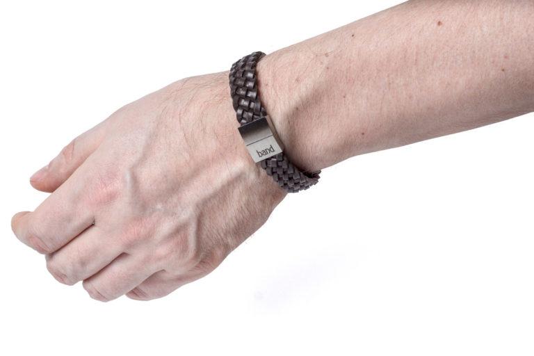 Кожаный браслет Marsel Brown