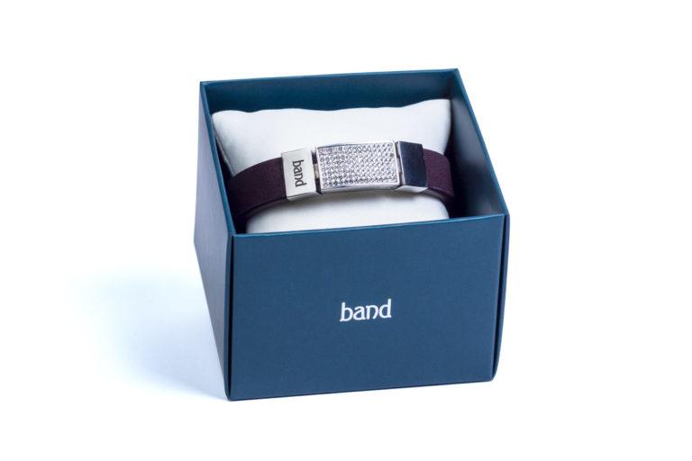 Кожаный браслет Elegance Violet