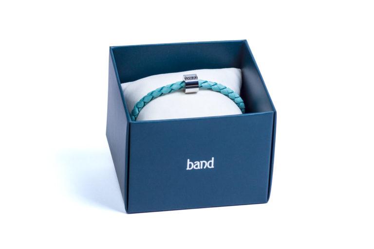 Кожаный браслет Milan Blue