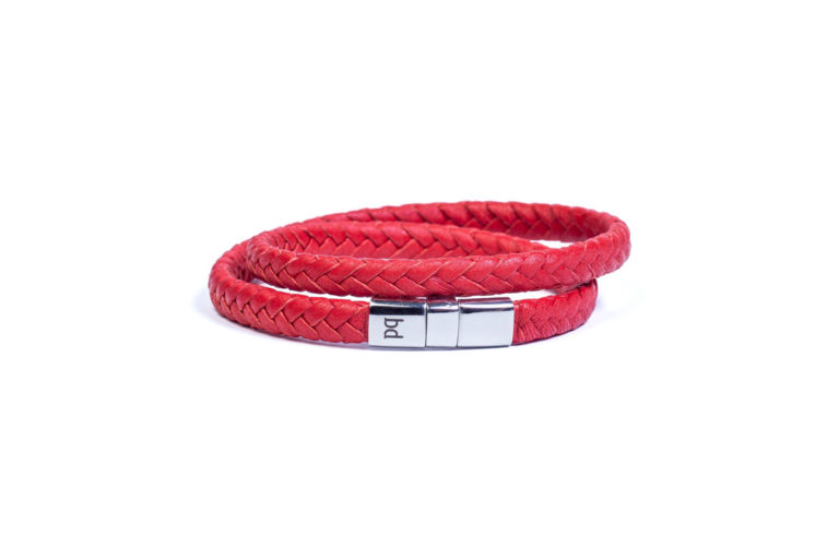 Кожаный браслет Riga Red