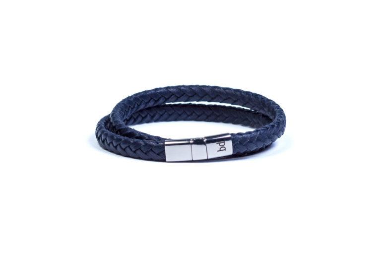 Кожаный браслет Riga Blue