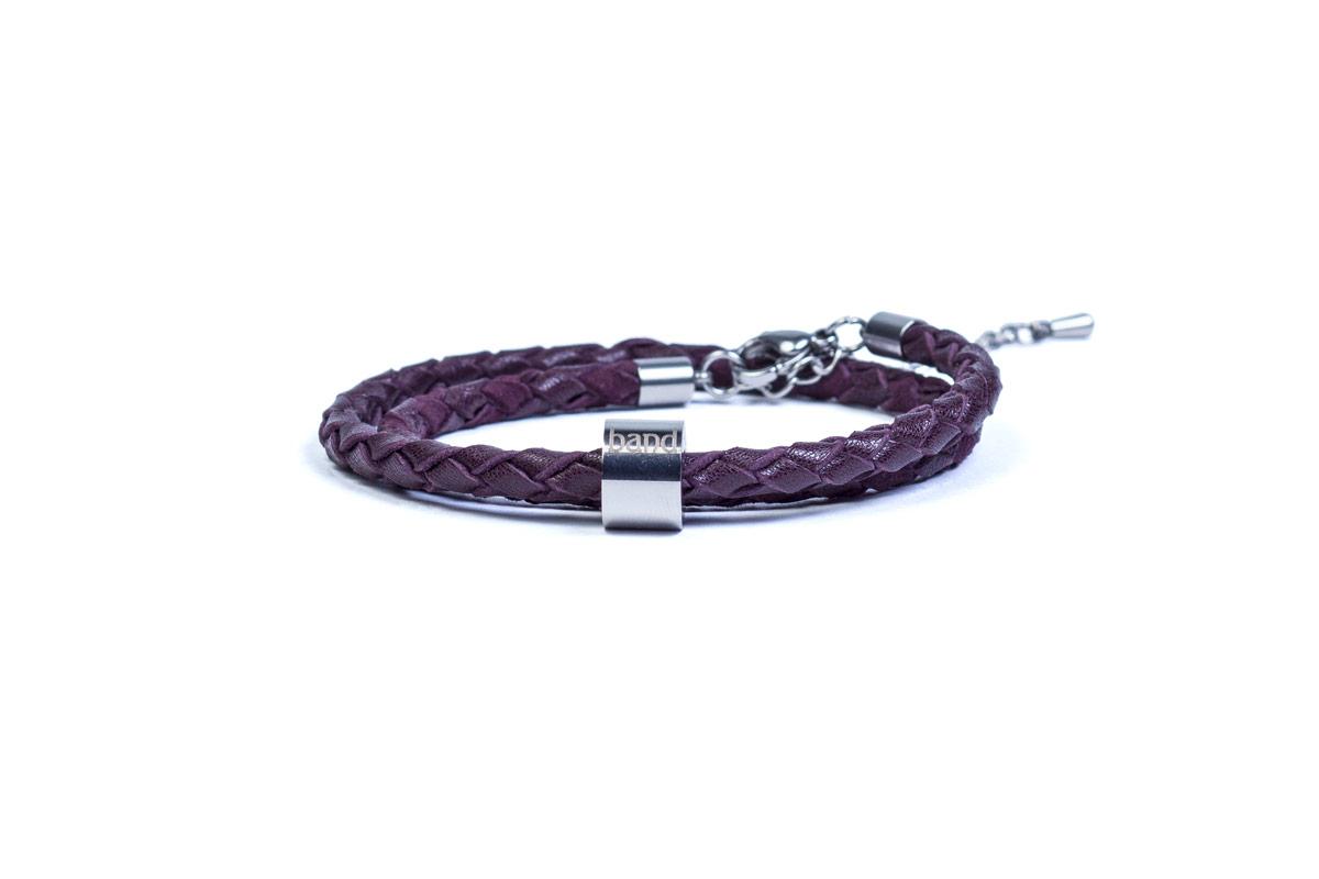 кожаный браслет Milan Violet