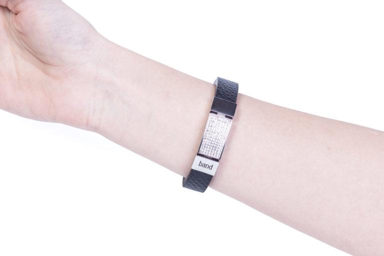 Кожаный браслет Elegance Black