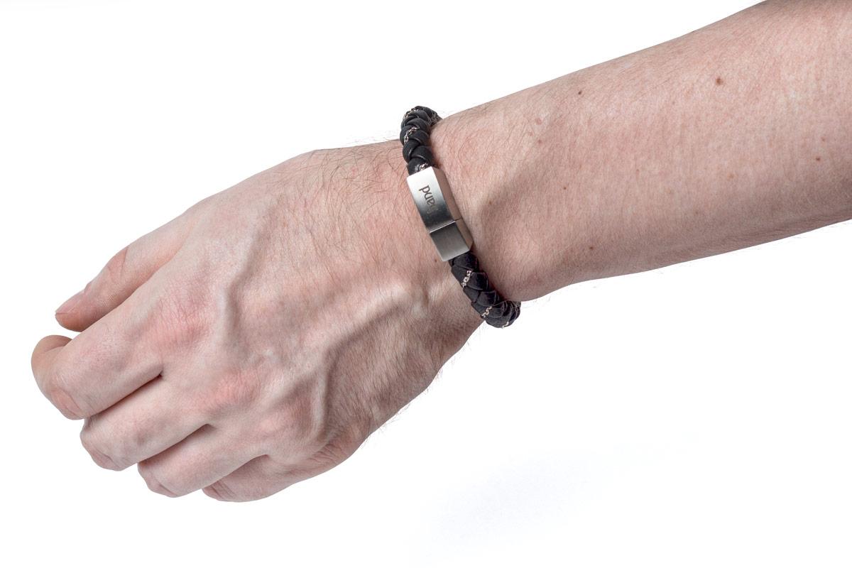 кожаные браслеты с серебром купить