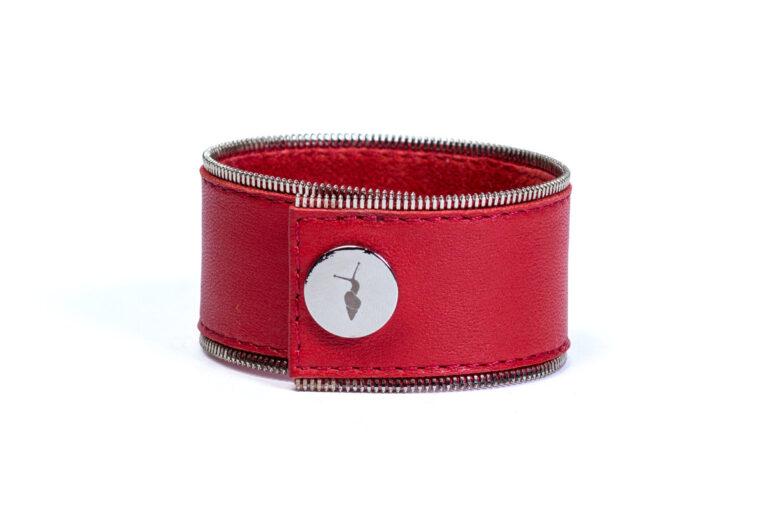 Шкіряний браслет Addicted Red