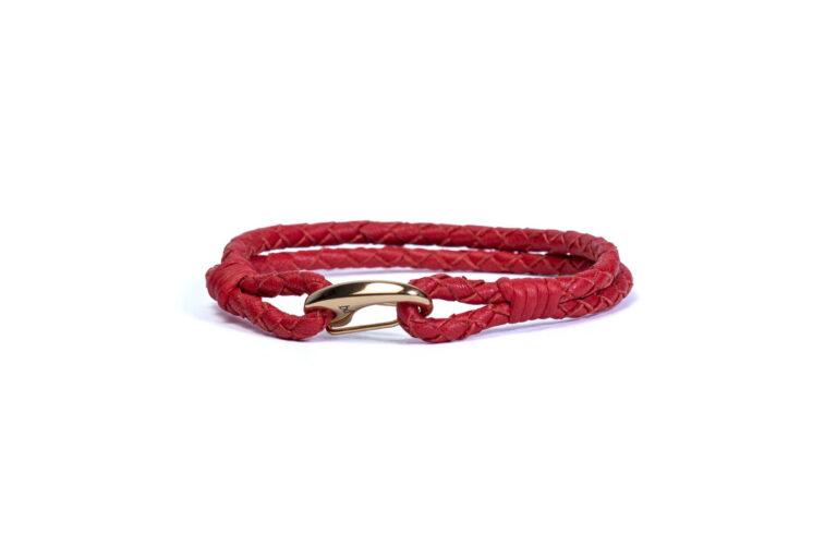 Шкіряний браслет Wicker Red