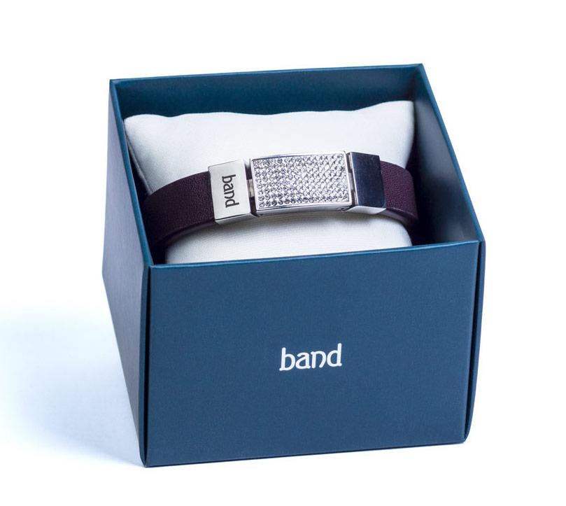 кожаный фиолетовый браслет цена