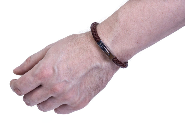 Кожаный браслет Hudson Brown