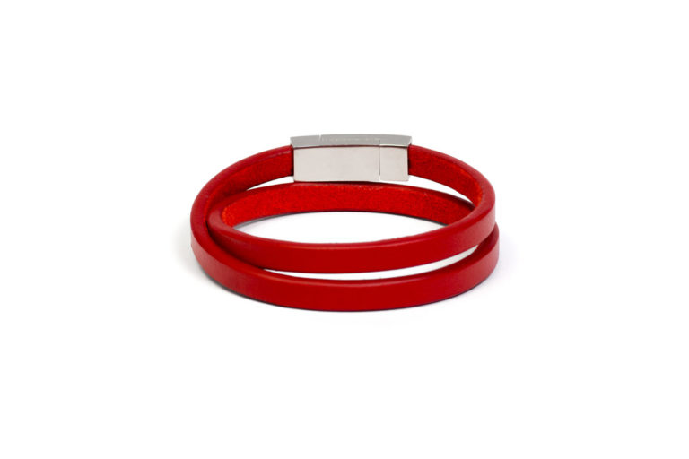 Браслет кожаный Savour Red